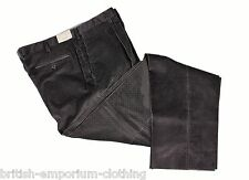 BRIONI Dark Grey Micro Check Velvet Cotton CANNES Trousers UK40 UN-HEMMED BNWT