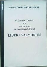 LIBER PSALMORUM O DE OCCULTA SAPIENTIA manoscritto G. Kremmerz ermetismo magia