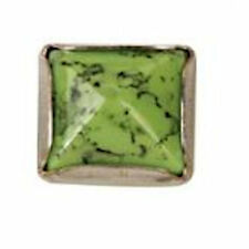 Synthetic Stone Rivets Pyramid Nickel Free 10mm 10 Pack Green 11360-05