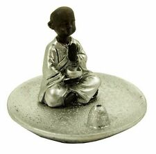 Mini Circular Resin Cast Monk Incense Holder (Y39)