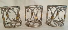 Set of 3 Southern Living at Home Silver and Gold Votive Candle Holders