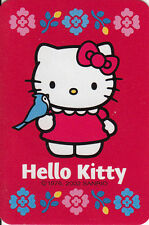 Genuine Swap / Playing Card- 1 SINGLE MINIATURE - HELLO KITTY