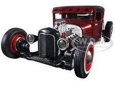 "1929 FORD MODEL A CANDY RED  ""OUTLAWS"" 1/24 DIECAST MODEL CAR BY MAISTO 31354"
