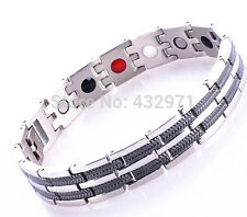 TITANIUM STEEL ENERGY MAGNETIC GERMANIUM THERAPY BRACELET 6 IN 1