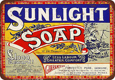 1921 Sunlight Soap Reproduction Metal Sign 8 x 12