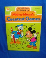 Vintage Disney 1978 Mickey Mouse's Greatest Games Book Unused