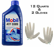 Mobil ATF 3309 ATF Automatic Transmission Fluid - 12 QUARTS + 2 FREE Gloves