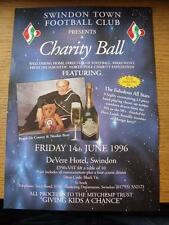 14/06/1996 Swindon Town: Advertising Poster For The Charity Ball, Welcoming Home