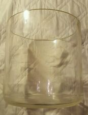 """Vintage Large PYREX Clear Glass LAB BOWL Cylindrical Jar 10"""" x 10"""""""