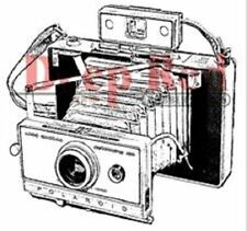 Deep Red Rubber Cling Stamp Polaroid Camera Photography