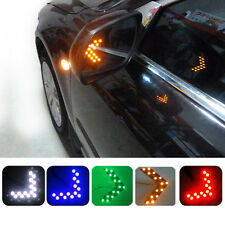 2pcs Auto SUV Arrow Green 14-SMD LED Rear Mirror Turn Signal Indicator Lights YP