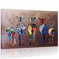 Canvas Prints Multicolored Zebra Wall Art Unframed Picture Modern Home Decor