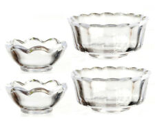 Set Of 4 Clear Bowls, Dolls House Miniatures, Kitchen & Dining 1.12 Scale
