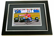 Nigel Mansell SIGNED 10x8 FRAMED Photo Autograph Display Formula 1 Racing & COA