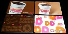 4 Collectible Gift Card Dunkin Donuts Coffee Food Lot Different No Value  2010