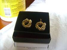 Avon Goldtone Snake Chain Hook Earrings (Pierced) - NIB!