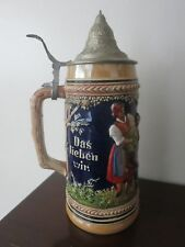 """VINTAGE BEER STEIN BY PETER SIMON GERZ 11"""" TALL"""