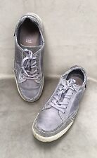 Bugatti  Men's Lace-up Shoes Low Sneakers  Leather Suede  Gray  11.5 US 45 EUR