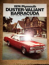 NOS Dealer Plymouth Brochure 1974 Duster 360 Scamp Valiant Barracuda