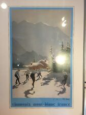 "Chamonix Mont-Blanc France, 17""x25"" Framed Poster, Signed By The Artist"