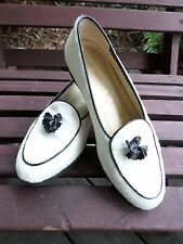 BOTTEGA VENETA authentic white calf hair pony Belgian loafers 7B NWOB NEW
