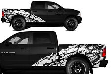 Vinyl Decal NIGHTMARE Wrap Kit for Dodge Ram 09-14 1500/2500 SHORTBOX Flat White
