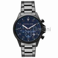 Michael Kors Original MK8443 Men's Gage Gunmetal Blue Dial Chrono Watch 45mm