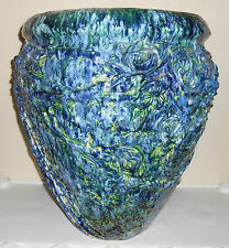 Peters And Reed Pottery Huge Blended Glaze Floor Vase!
