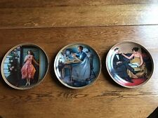 Norman Rockwell Lot of 3 Original Knowles, Rediscovered Women Numbered Plates