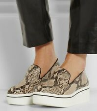 STELLA MCCARTNEY UK3 EU36 US6 BINX FAUX PYTHON LOAFER PLATFORM SKATE SNEAKER