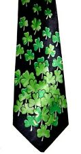 FOUR LEAF CLOVER NECKTIE NEW LUCKTIE FOR A LUCK GUY WINNER RACE ACE