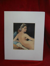 Jean Auguste Dominique Ingres (1780-1867) Print 9 x 11 Louvre Paris