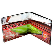 ARSENAL FC GUNNERS FULL COLOUR STADIUM DESIGN LEATHER WALLET PURSE NEW XMAS GIFT