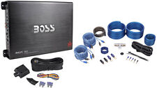 Boss R4004 1600 Watt 4-Channel Car Power Amplifier+Remote Level Control+Amp Kit