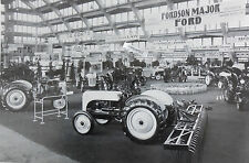 "12 By 18"" Black & White Picture 8N Ford Tractor Expo"