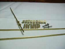 10 Straight Razor Set Brass Washers, Brass Rod Pins and Pivot Washers