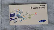 Bedienungsanleitung für Samsung GT-I8700 deutsch neu
