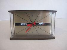 CALOR Electric Tischuhr Standuhr Kaminuhr 60er 70er SPACE AGE, OVP
