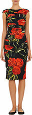 Dolce & Gabbana Cady Ruched Carnation-Print Dress Original:$2925 S 44IT/8-10US