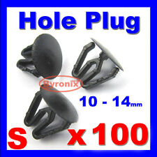 PAINTLESS DENT REMOVAL HOLE PLUGS PLASTIC BLANKING GROMMET TRIM CLIPS BLACK X100