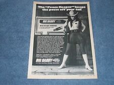 "1974 Big Daddy Exhaust Glasspack Vintage Muffler Ad ""The Peace Keeper..."""