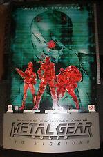 METAL GEAR SOLID VR Missions 5 foot tall Display Standee 1999 Konami NEW Unused