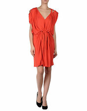 Fab New LANVIN Coral Draped Dress, SZ FR36 /UK8/ US4