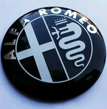 ALFA ROMEO Giulietta Mito 159 156 147 Black Car  front rear emblem Badge 74 mm