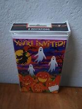 *** 8 inviti per la festa di HALLOWEEN invitations fantasmi cards party  ***