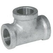 NEW LOT (6) 1 1/2 INCH GALVANIZED PIPE THREADED TEE FITTINGS PLUMBING SALE PRICE