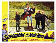 SUPERMAN AND THE MOLE MEN LOBBY SCENE CARD # 3 POSTER 1951 GEORGE REEVES