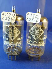 Matched Pair ECC83 Telefunken    NOS smooth # near same production codes (10013)