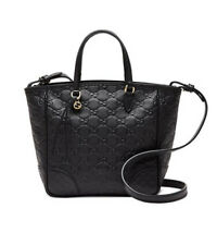 NWT Gucci Bree Small Guccissima Tote Leather Bag, Black was: $1350 Made in Italy