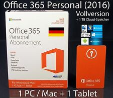 Microsoft Office 365 personnel (2016) version intégrale BOX 1 pc/mac + 1 tablette Abo